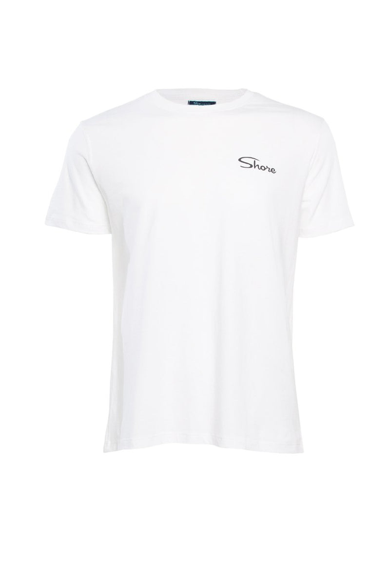 Found In Paradise Crew Tee - White - Shore