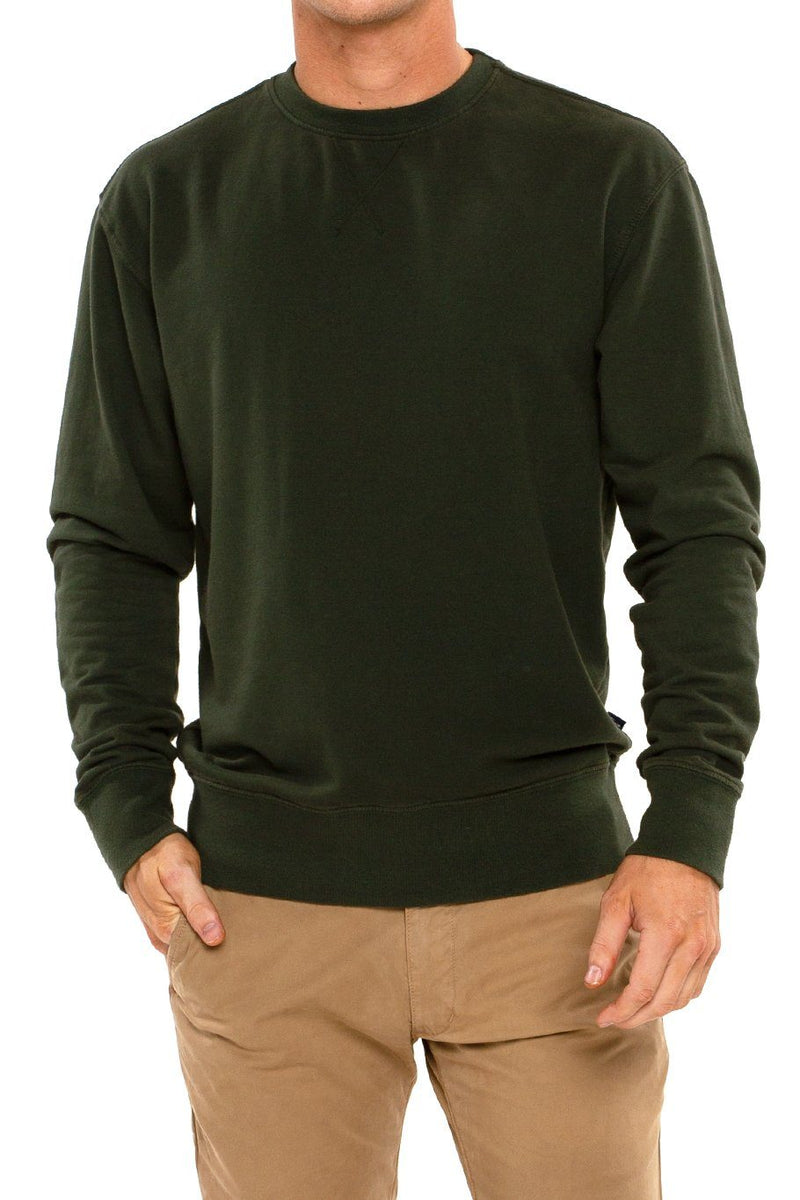 Long Sleeve Crew Pullover - Forest - Shore