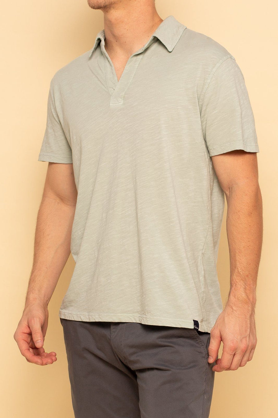 Relaxed Cotton Slub Polo - Sky Grey - Shore