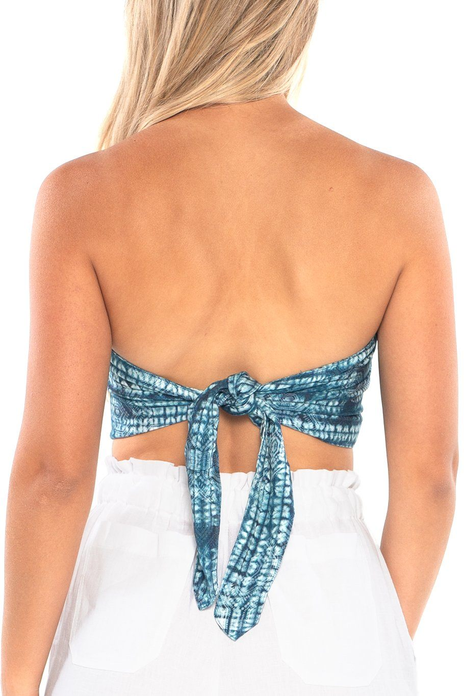 Handkerchief Top - Blue Aztec