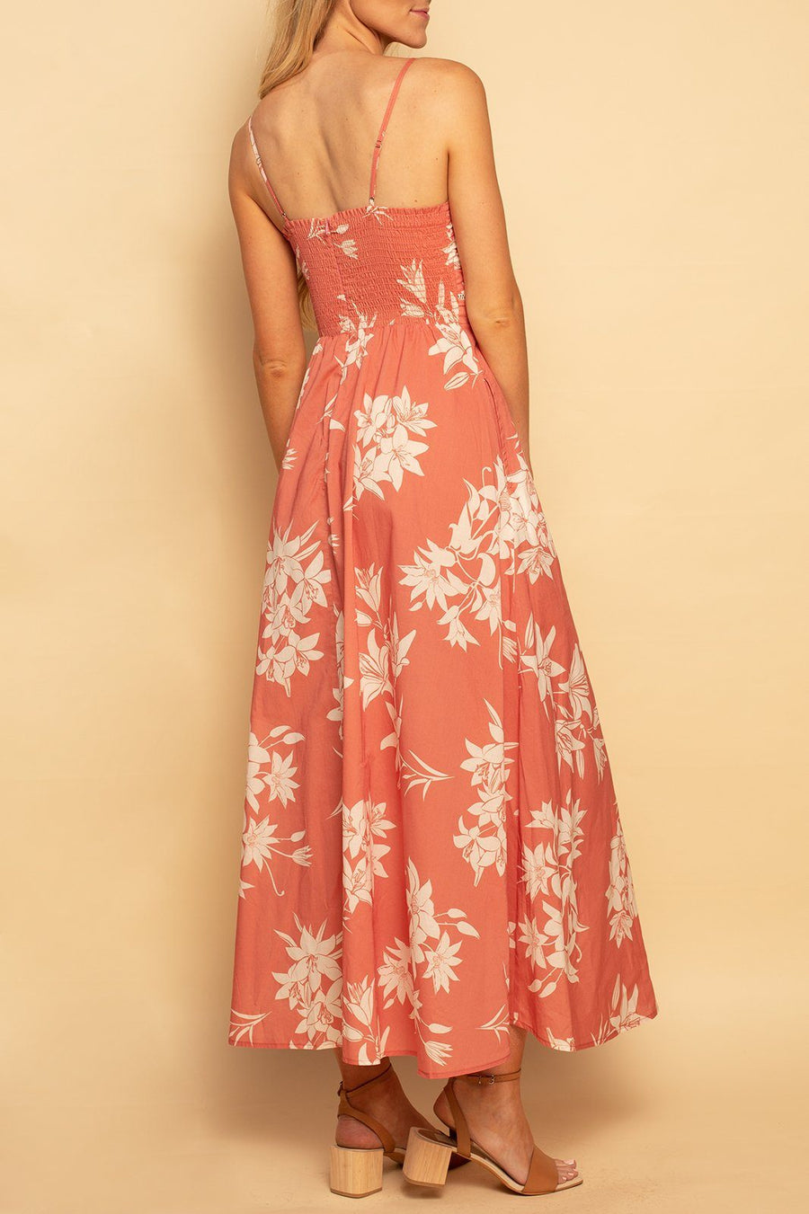Coronado Cut Out Maxi - Spring Hibiscus - Shore