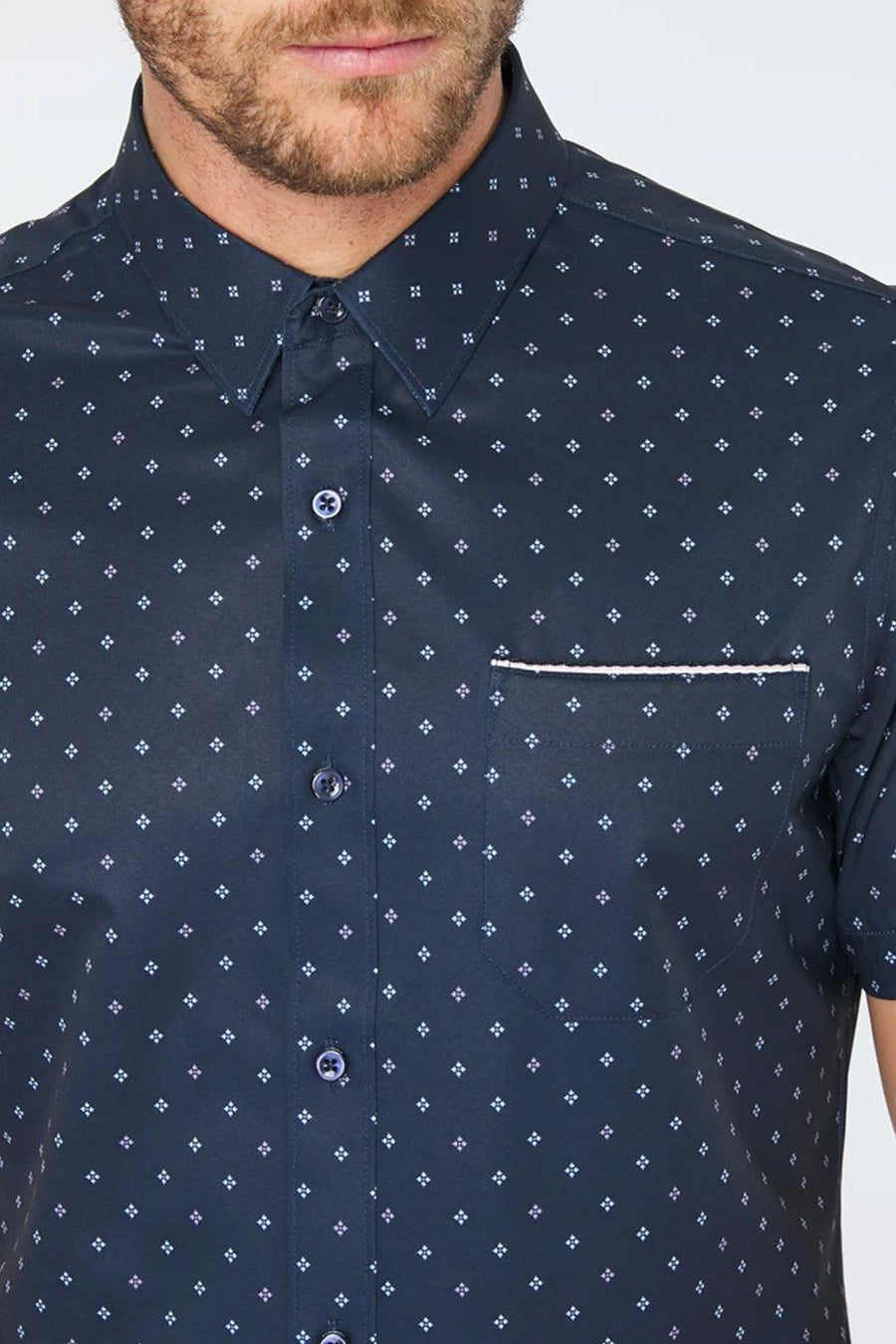 Highway Star 4-Stretch Polo - Navy - Shore