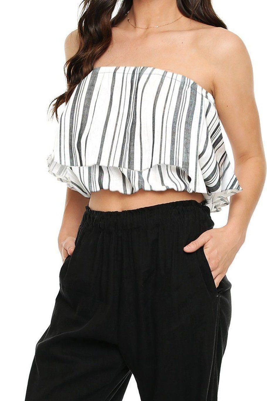 Huntington Layered Top - Shore Stripe - Shore