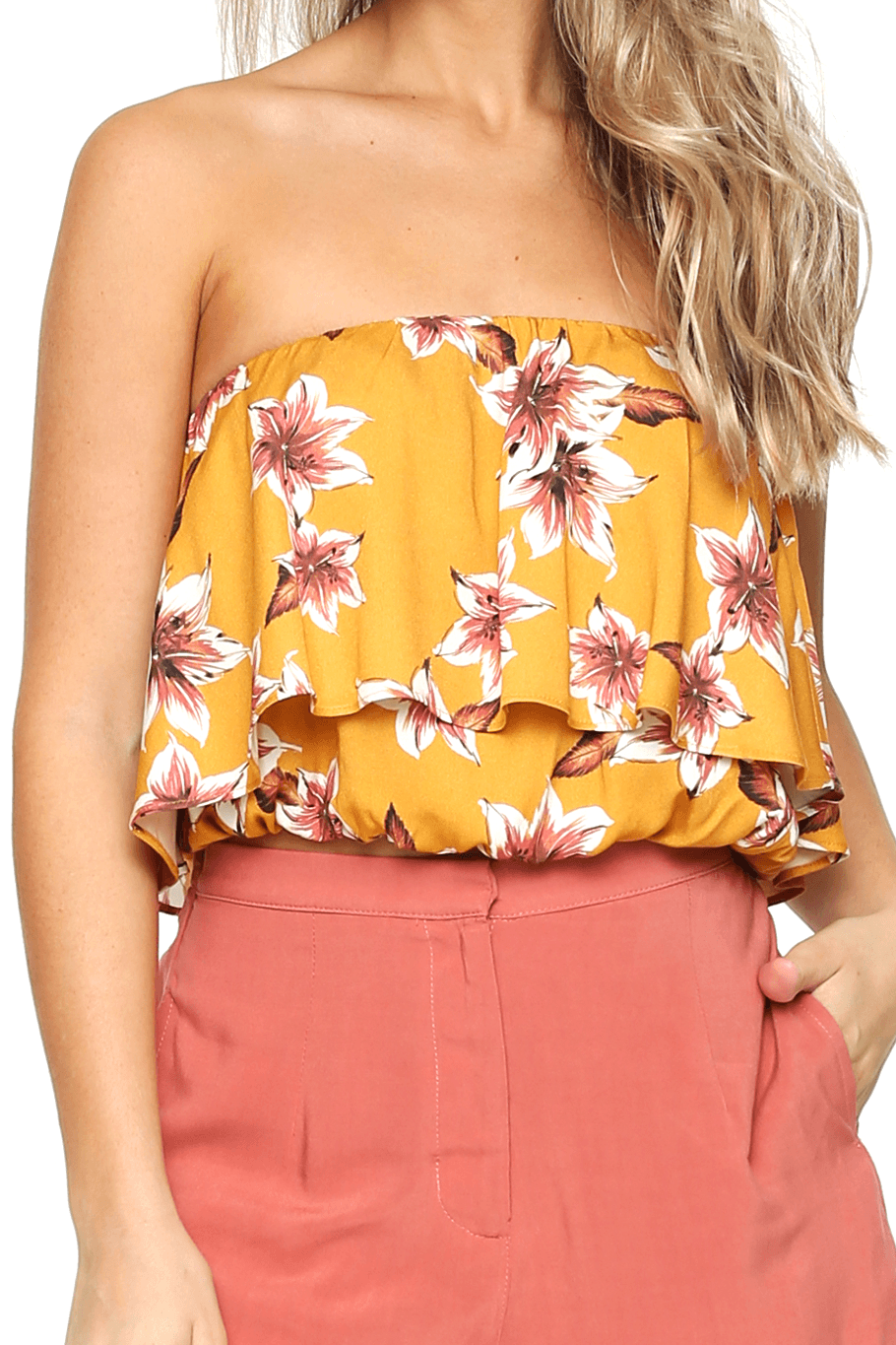 Huntington Layered Top - Hawaiian Bloom - Shore