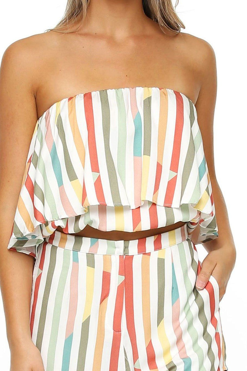 Huntington Layered Top - Multi Stripe - Shore