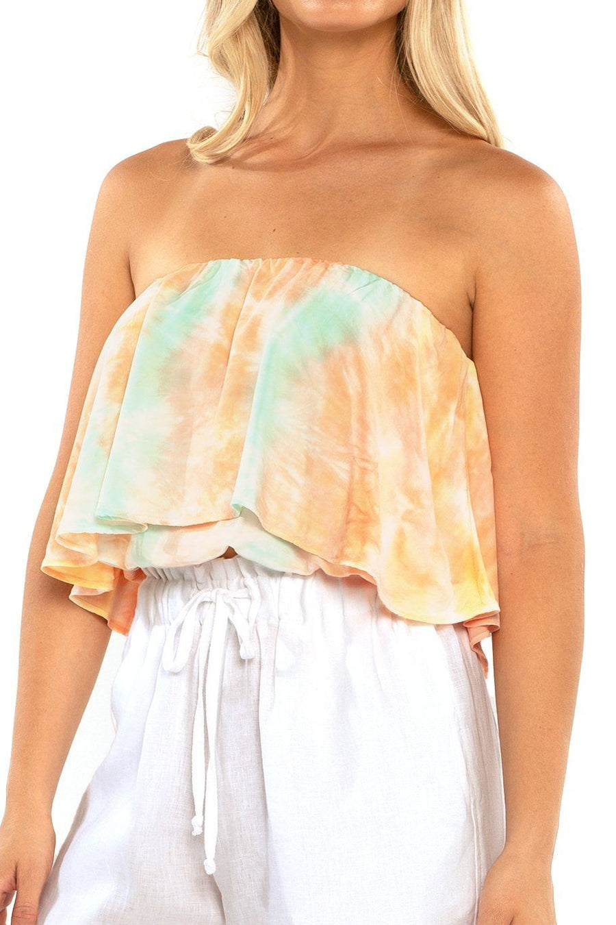 Huntington Layered Top - Sunset Dye - Shore
