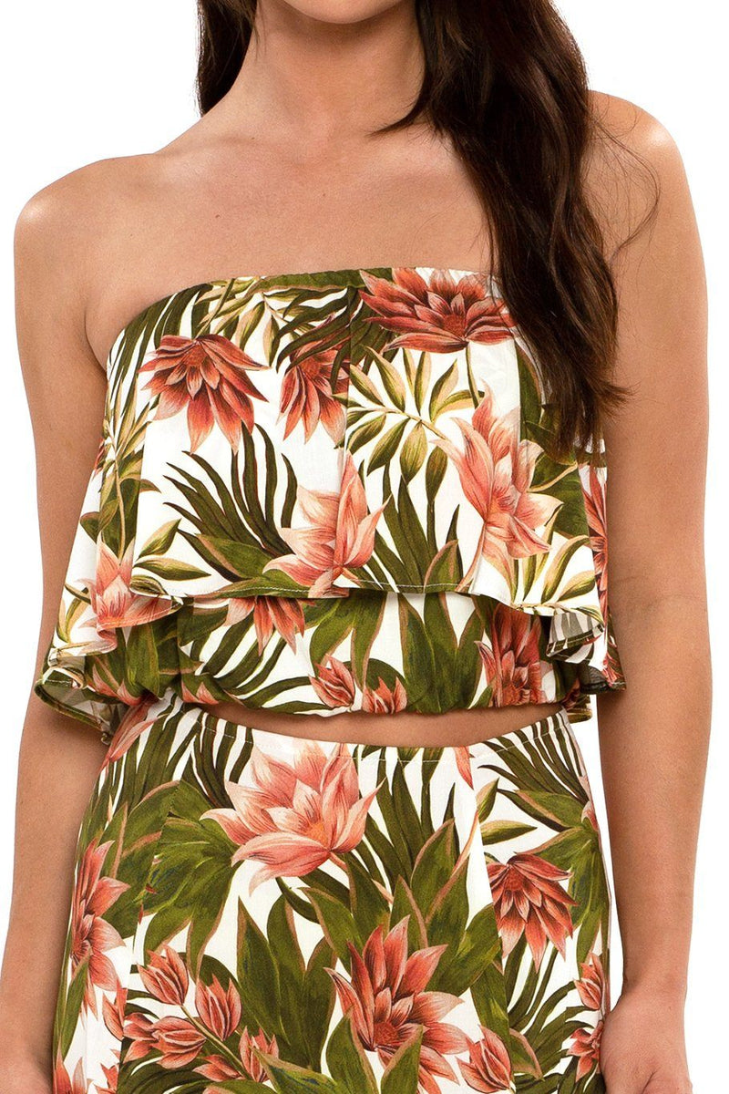 Huntington Layered Top - Tropical - Shore
