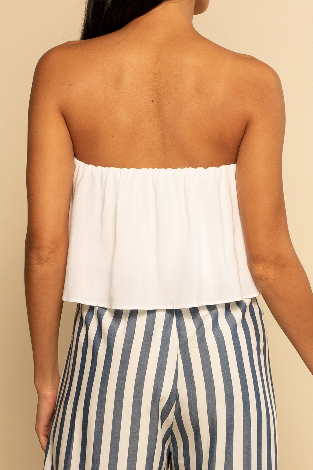 Huntington Layered Top - White - Shore