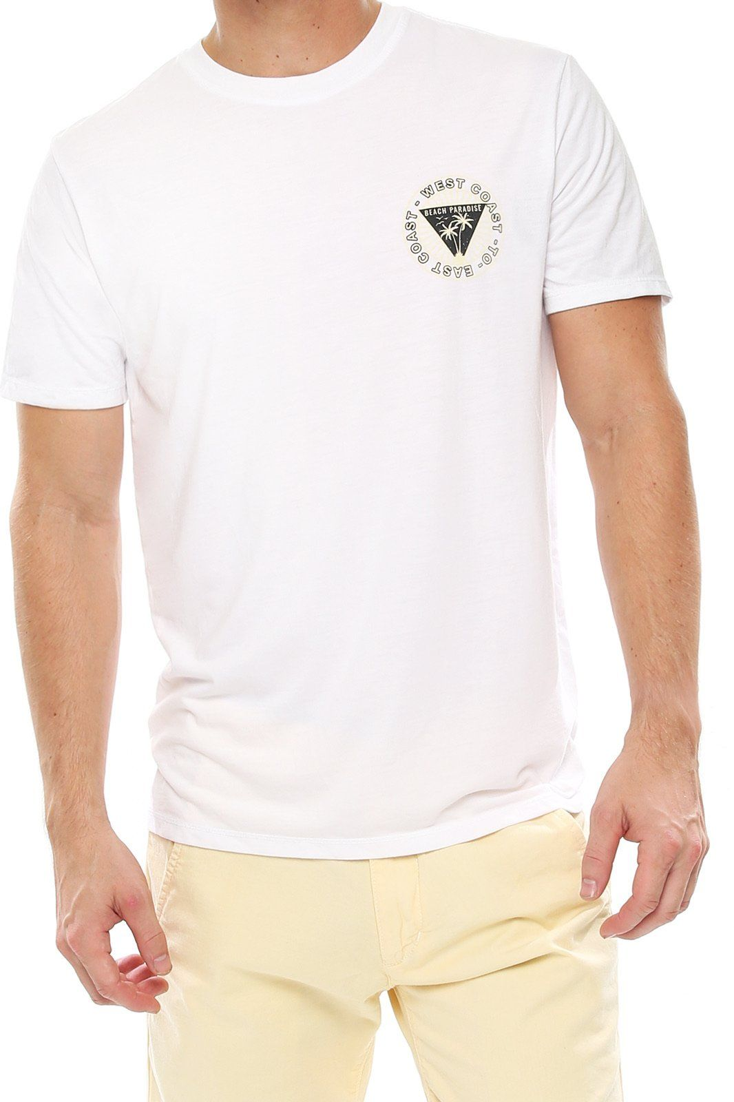 Men's Graphic Crew Tee - East to West - Shore