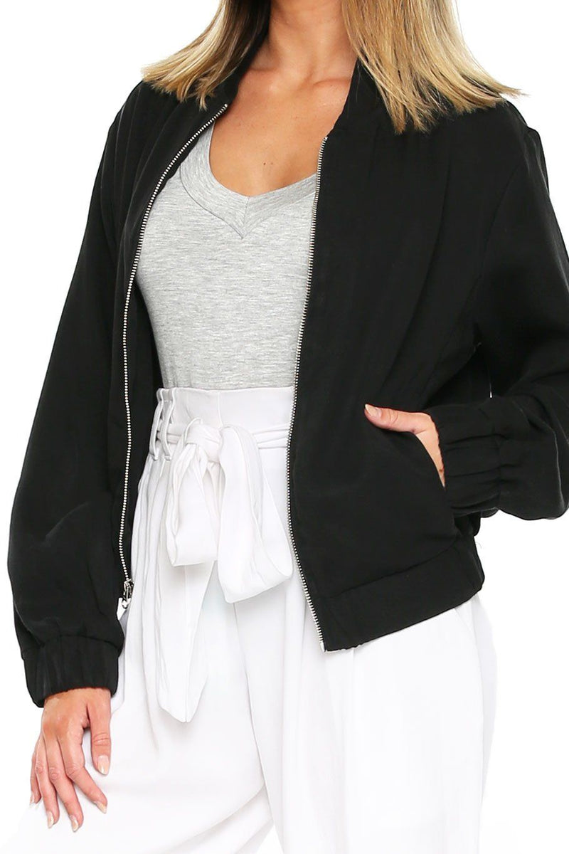 Bomber Jacket - Black - Shore
