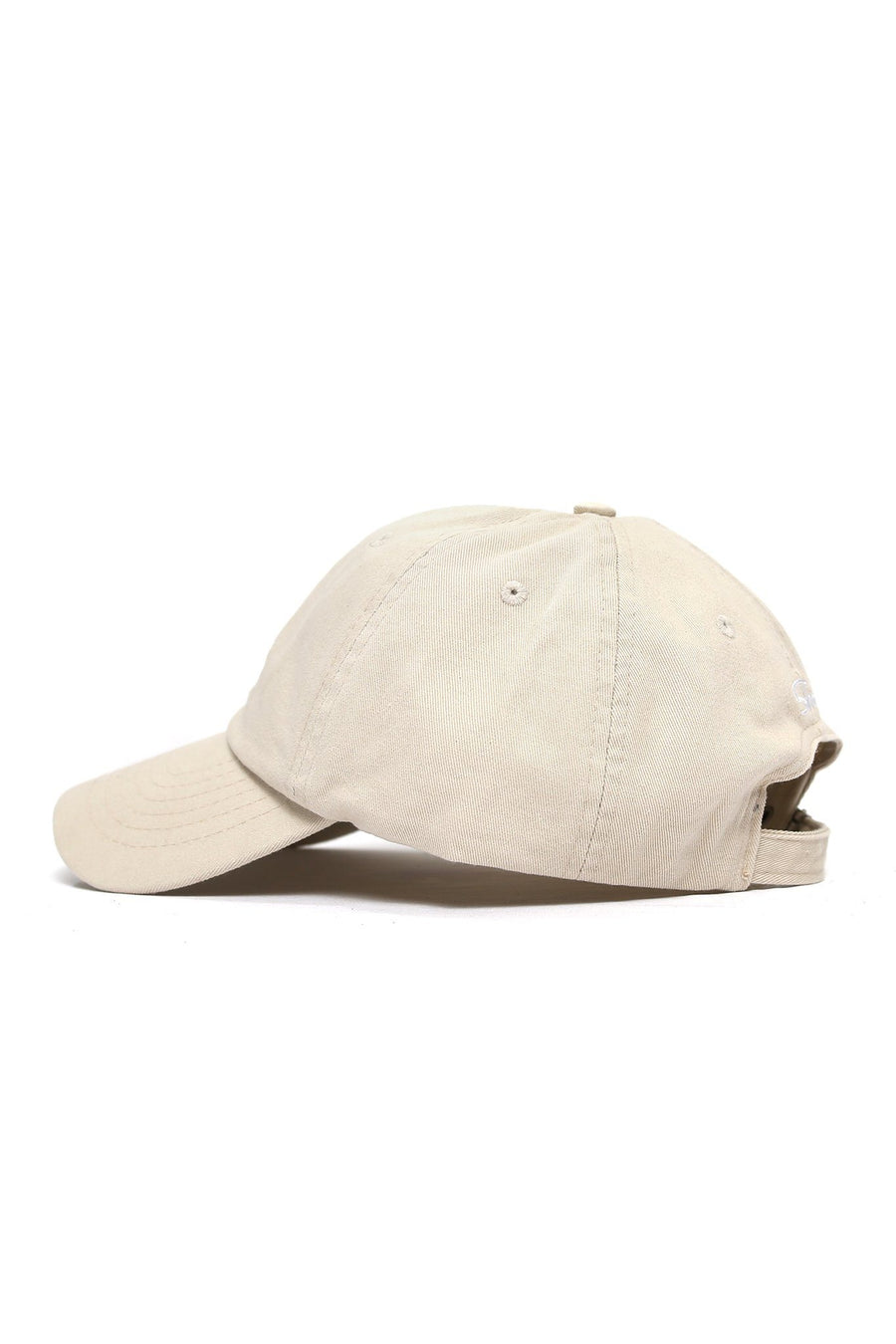Sun Wave Solid White Logo Cap - Khaki - Shore