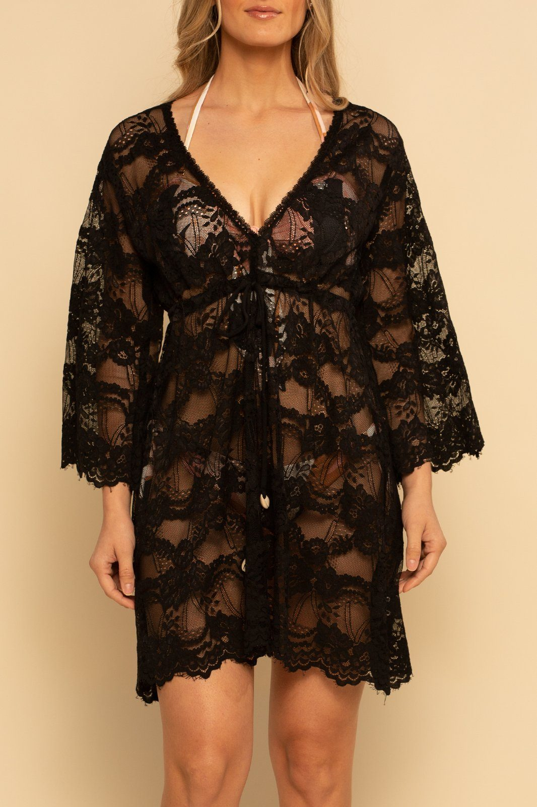 Palma Lace Dress - Black Lace - Shore