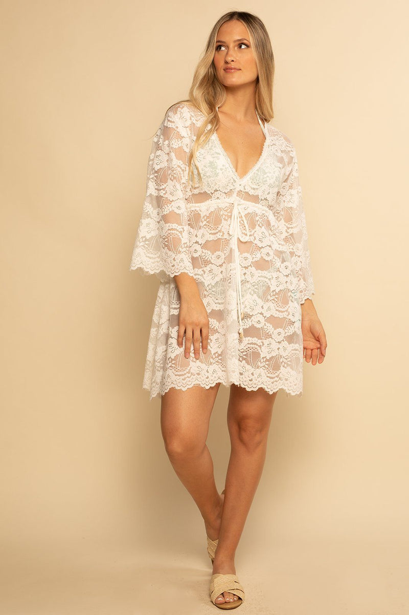 PREORDER | Palma Lace Dress - White Lace