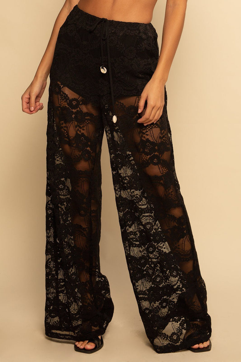 Positano Pant - Black Lace - Shore
