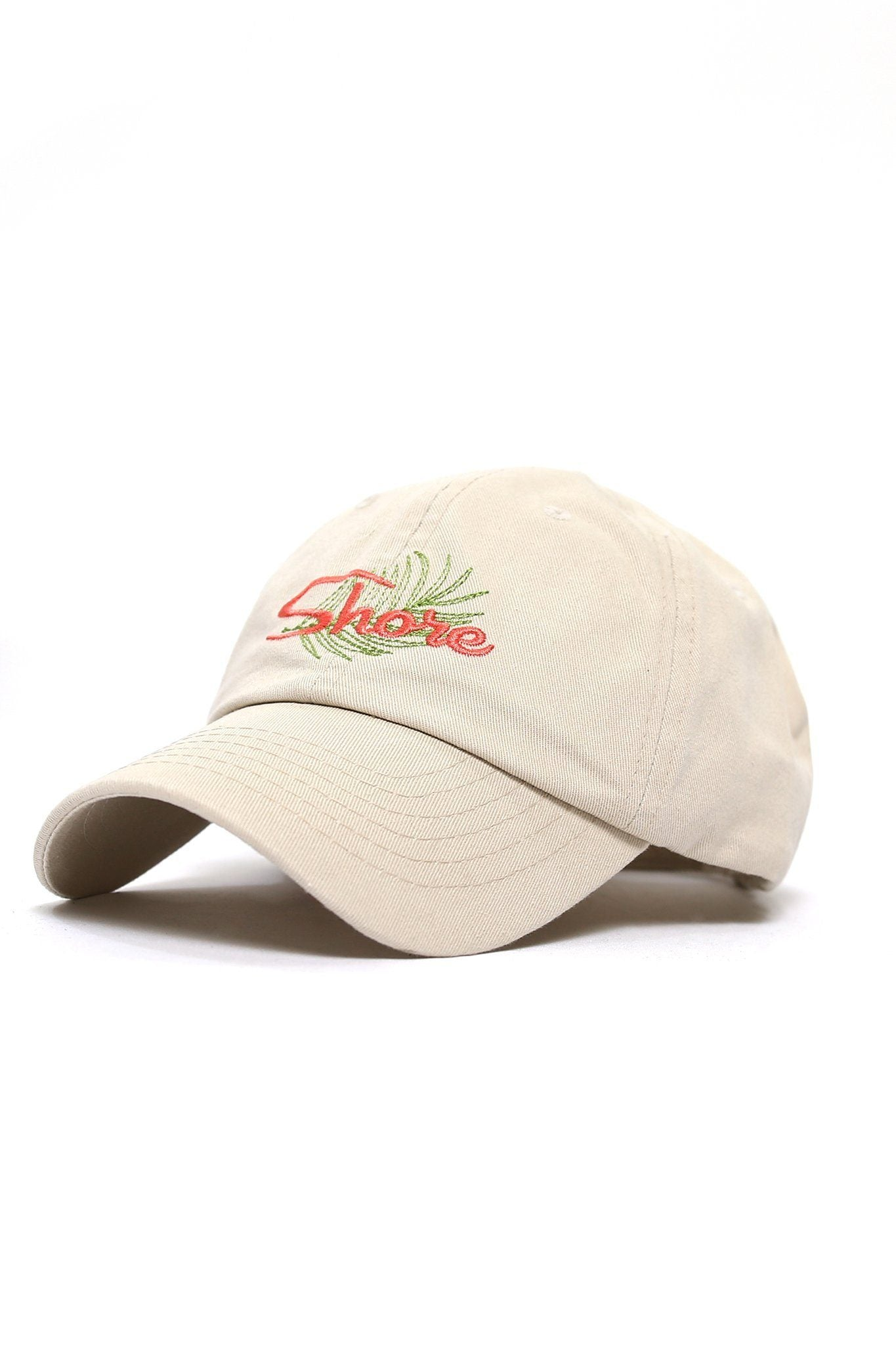 Shore Palm Frond Logo Cap - Khaki - Shore