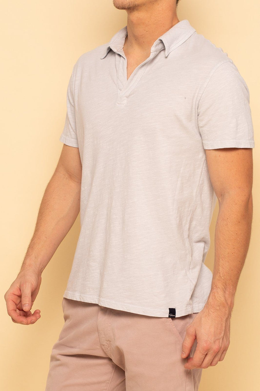 Relaxed Cotton Slub Polo - Vapor - Shore