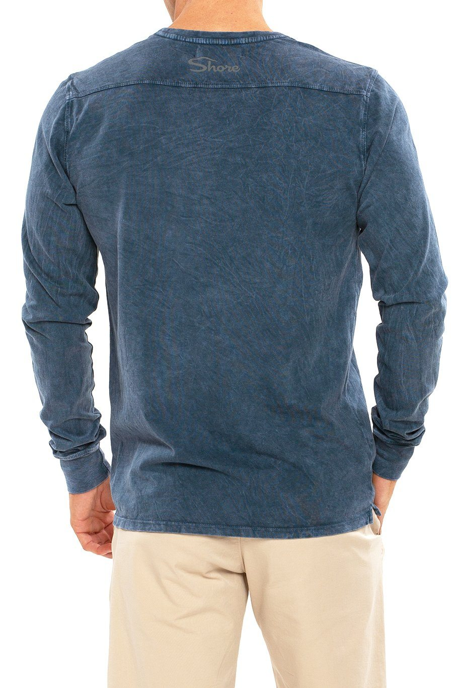 Long Sleeve Crew Tee - Navy Mineral - Shore