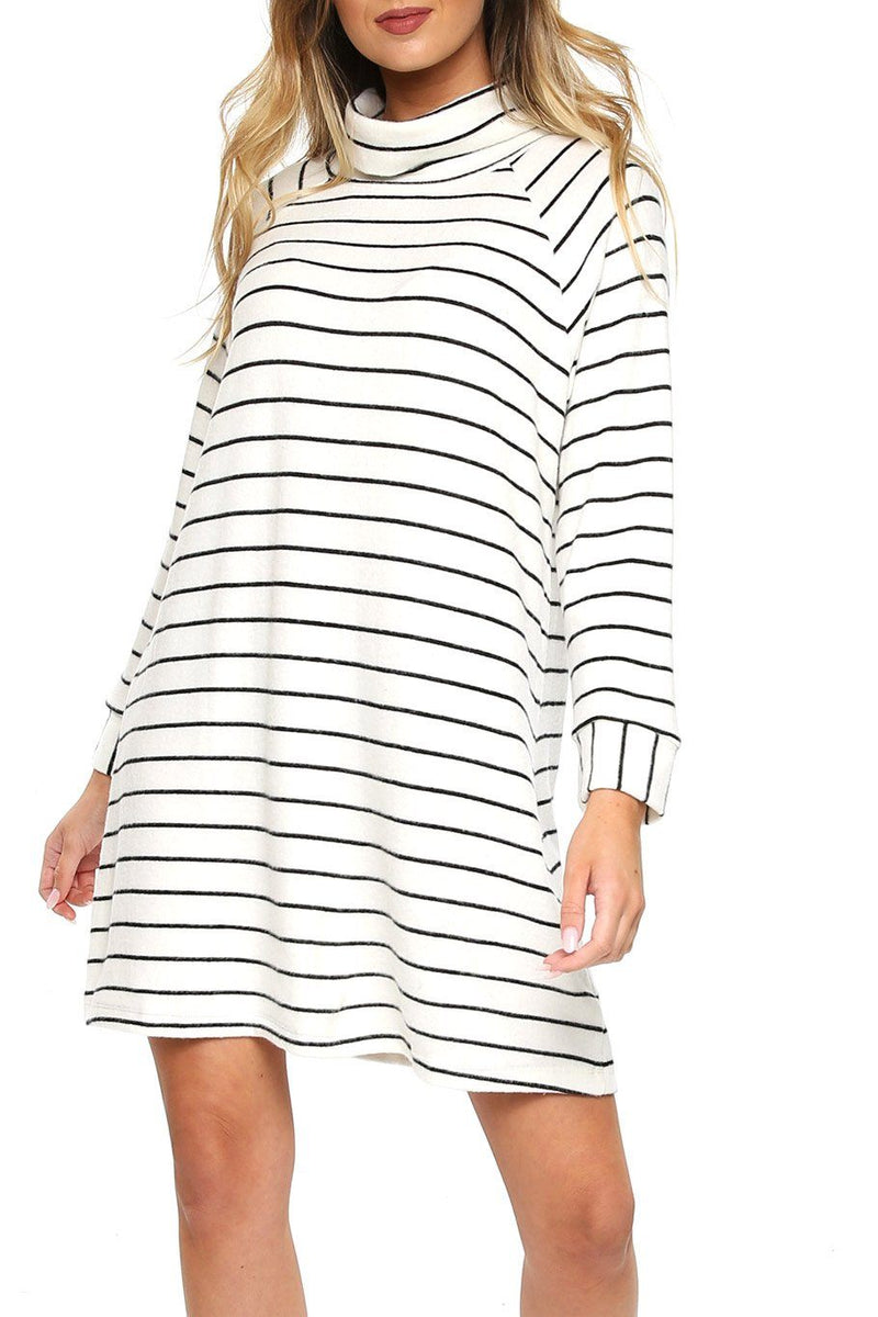 Turtleneck Sweater Dress - Shore