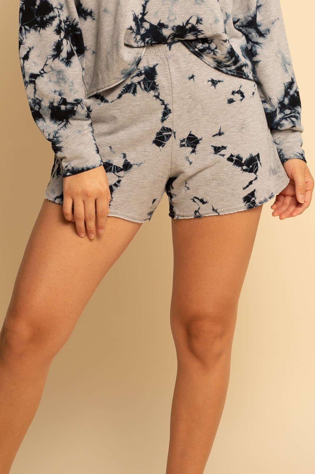 Lounge Short - Grey Tie Dye - Shore