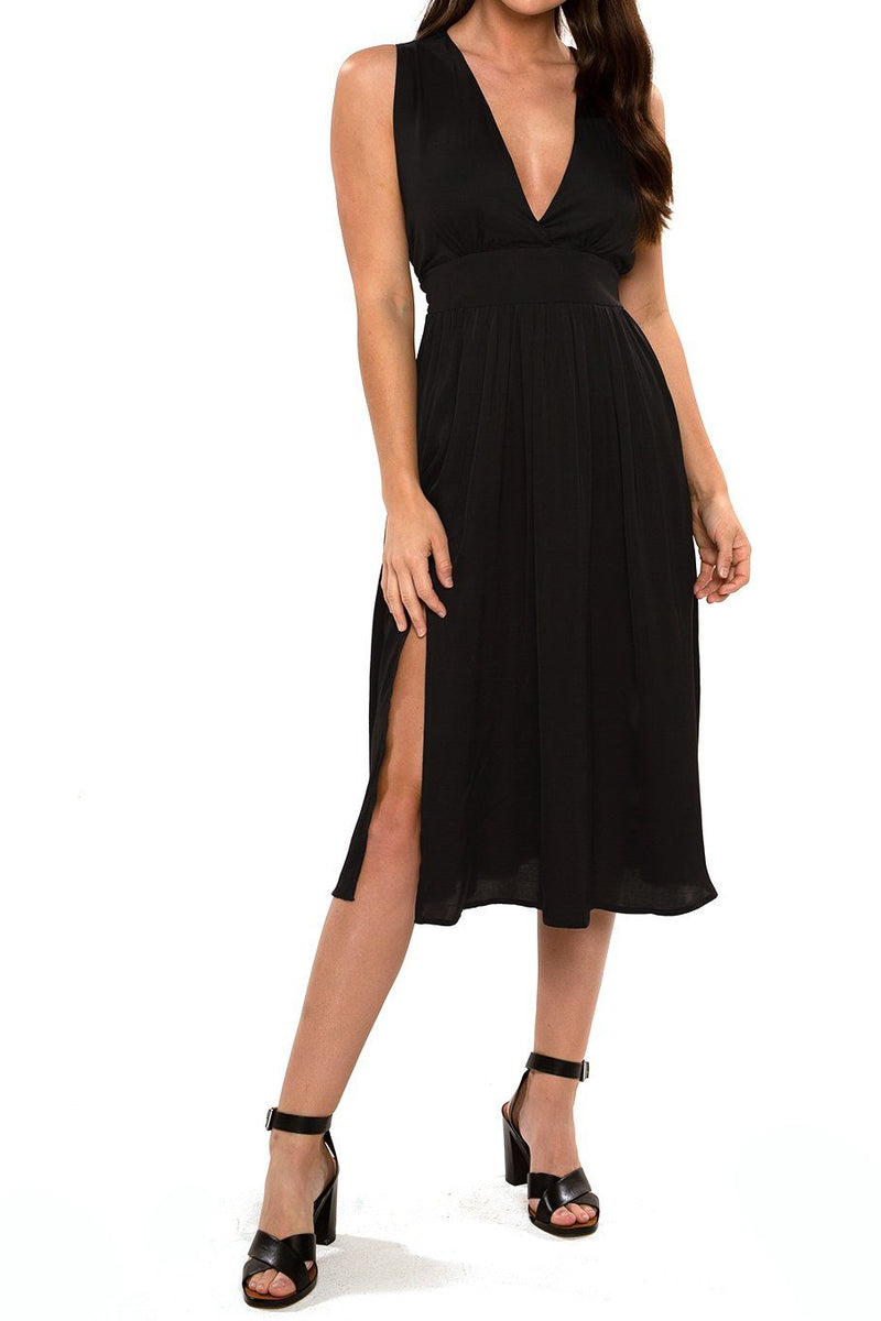 Magnolia Midi Dress - Black - Shore
