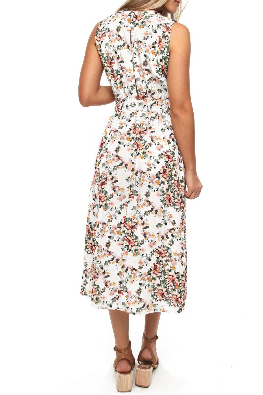 Magnolia Midi Dress - Garden Party - Shore