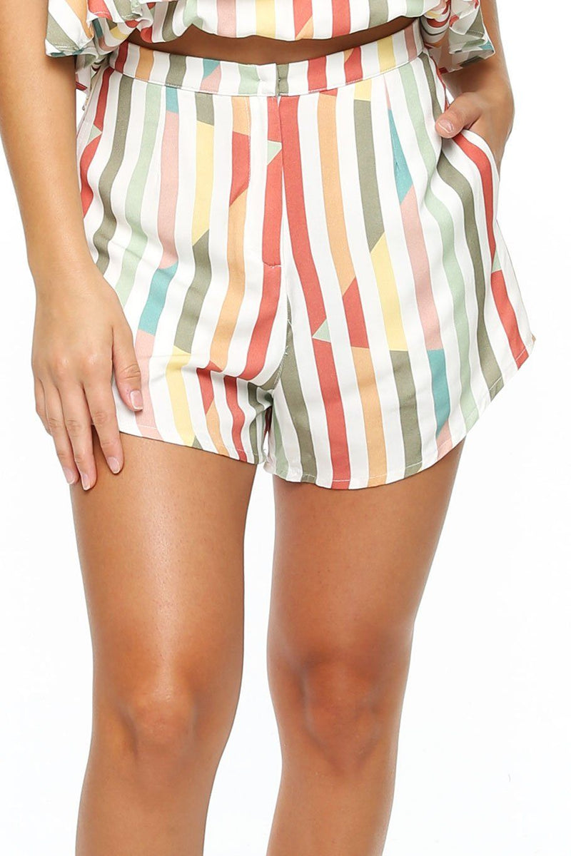 Mallorca Short - Multi Stripe - Shore