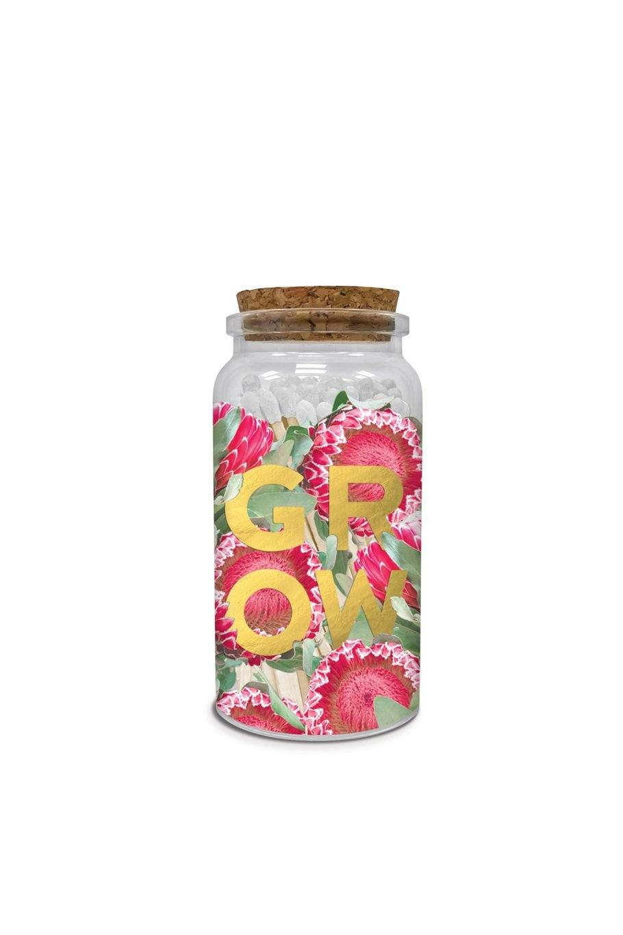 Grow matches Printed Glass Jar - Shore