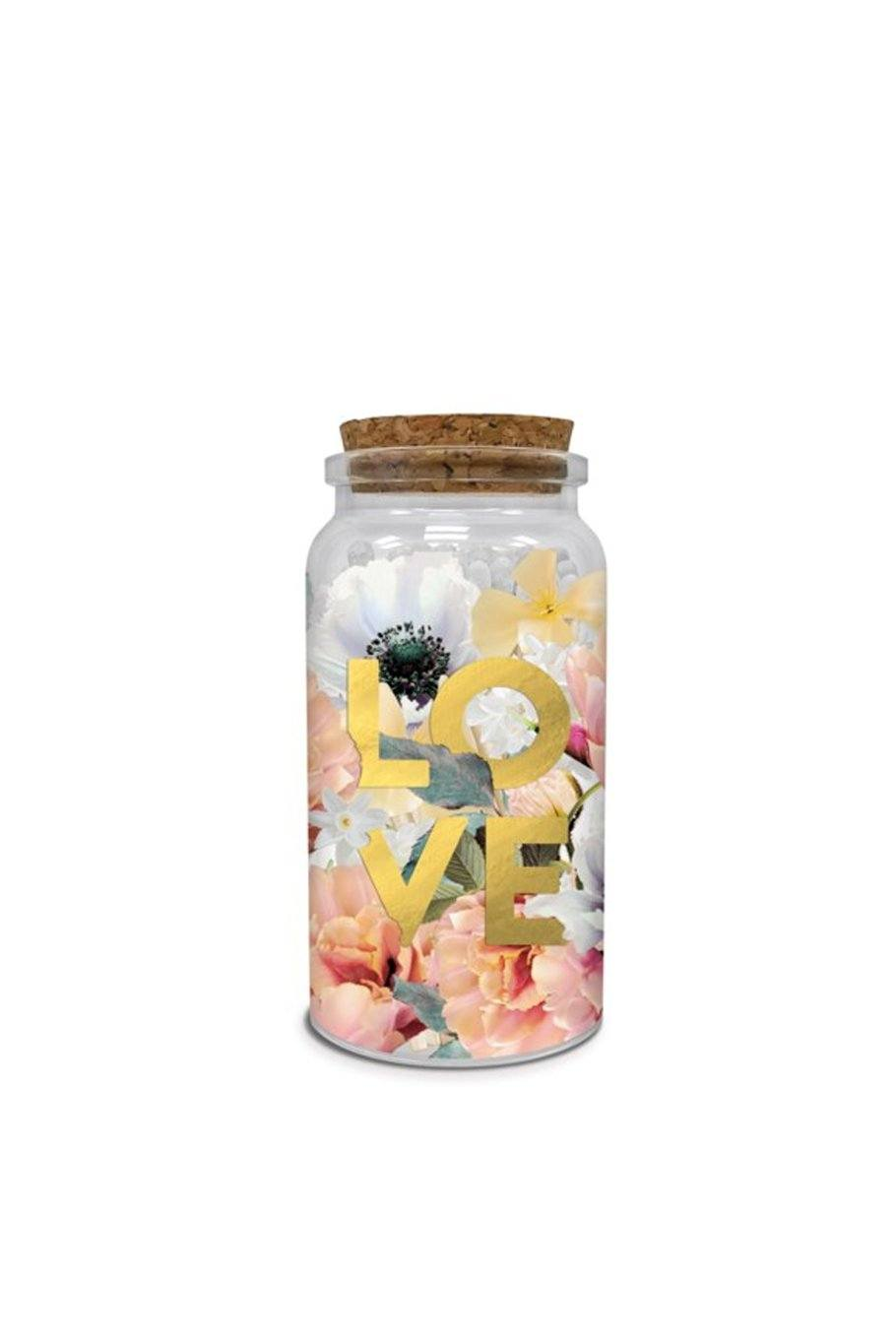 Love matches Printed Glass Jar - Shore