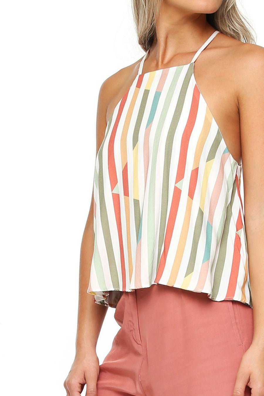 Maui Swing Top - Multi Stripe - Shore