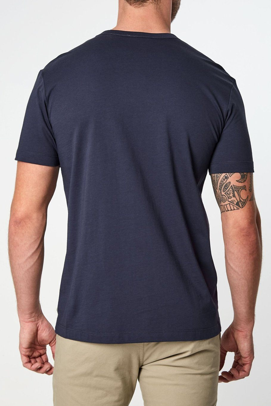Iqonicq Supima T-Shirt - Navy - Shore