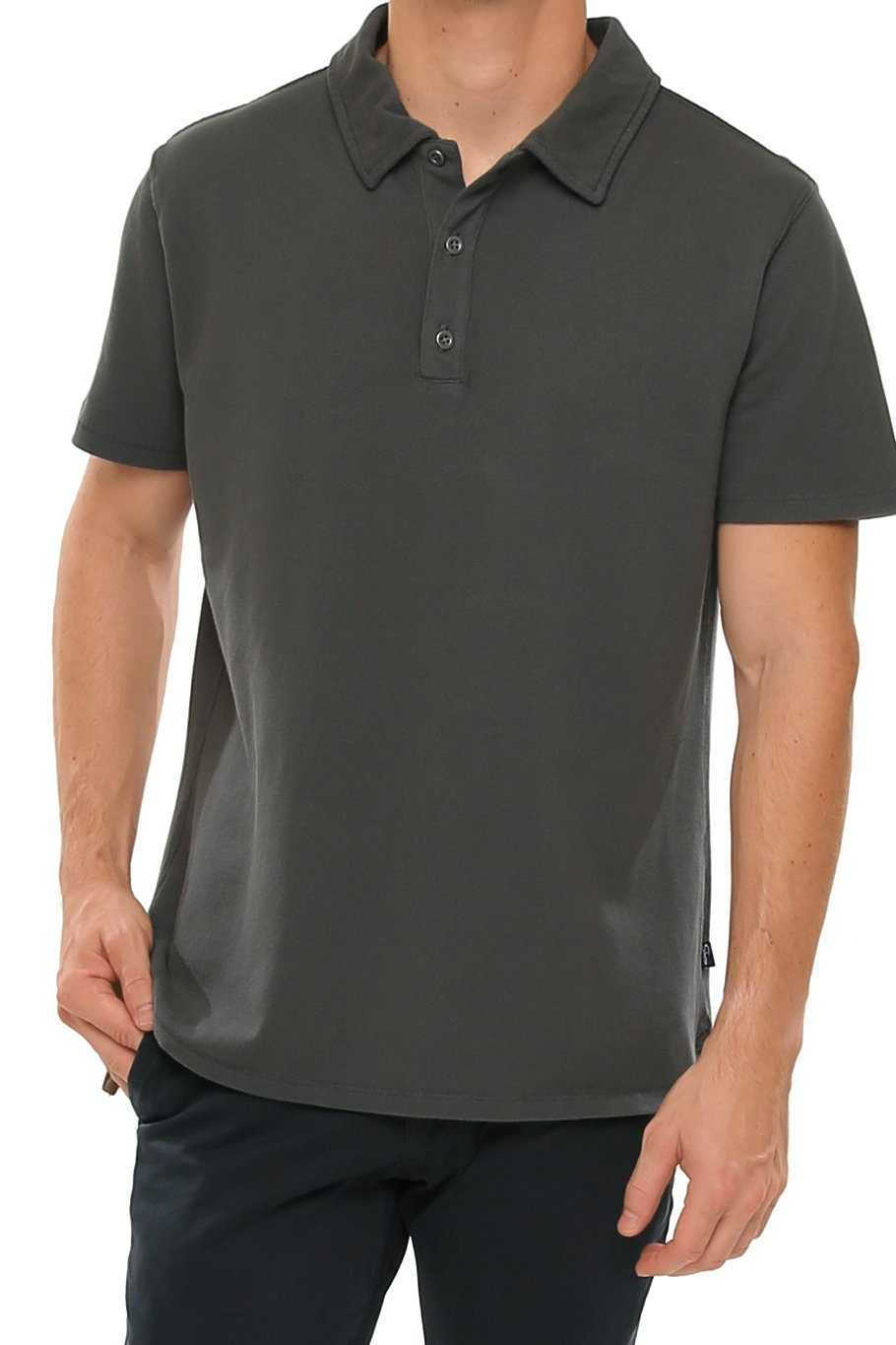 Short Sleeve Pique Polo - Castlerock - Shore