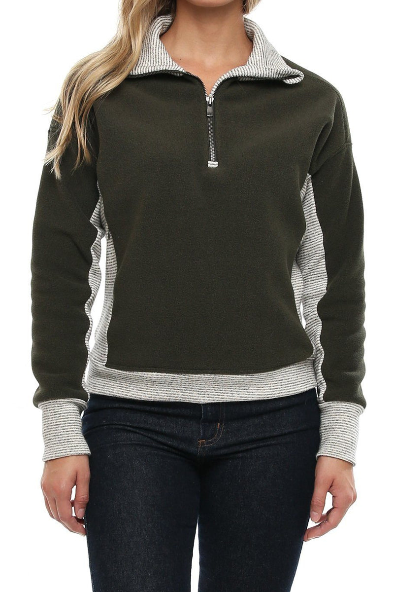 Portland Sherpa Pullover - Forest - Shore