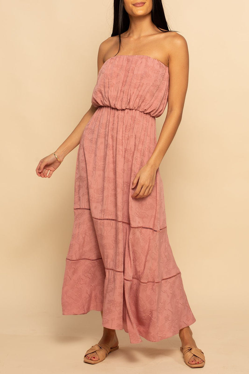 Como Strapless Maxi - Desert Rose - Shore