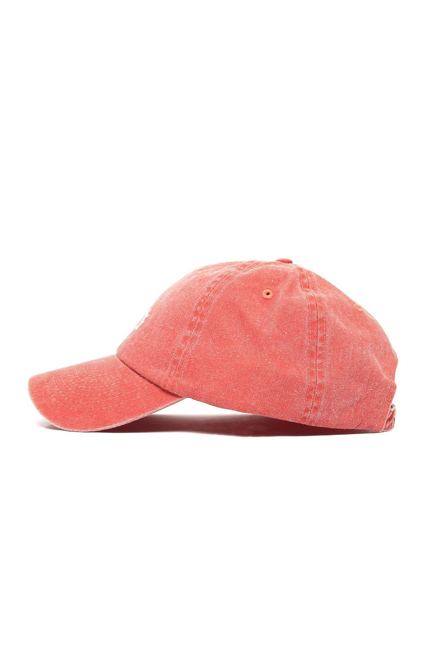 Sun Wave Solid White Logo Cap - Burnt Orange - Shore