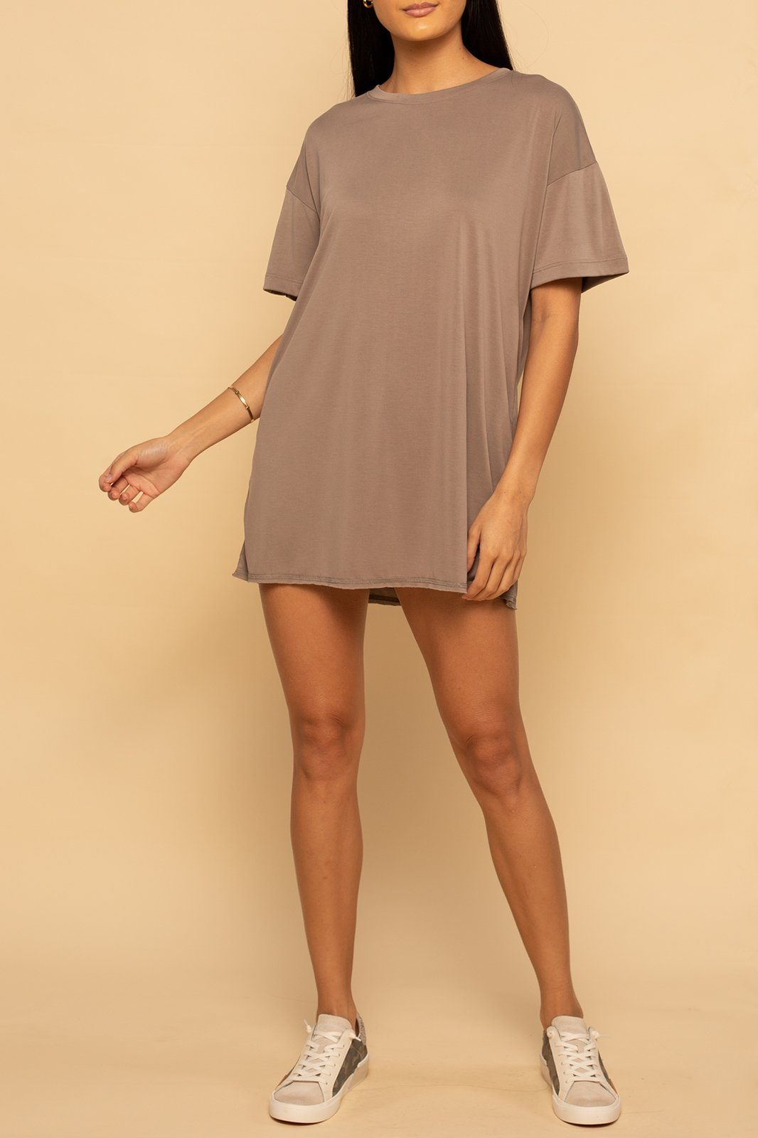 Oversized T-Shirt Dress - Cocoa - Shore