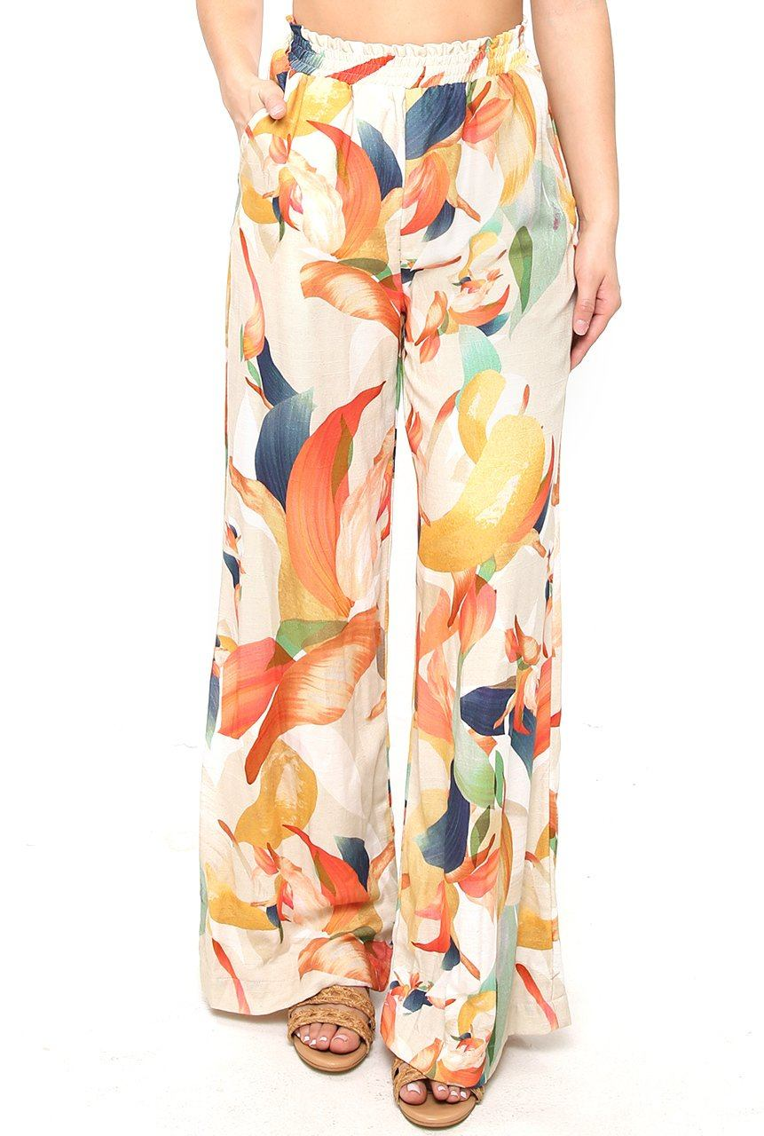 Palazzo Pant - Color Splash - Shore