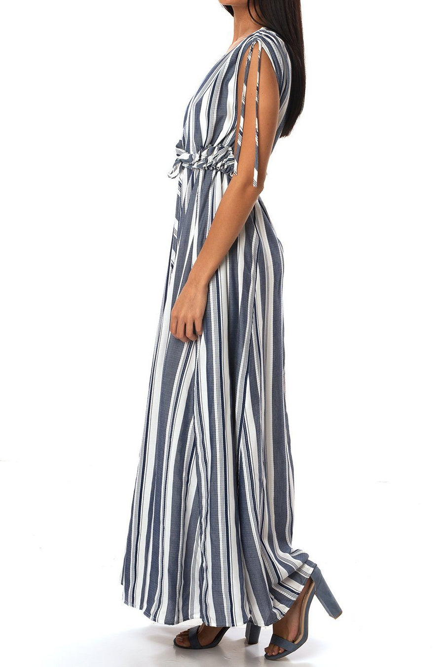 Palm Beach Maxi Dress - Sue's Stripe - Shore