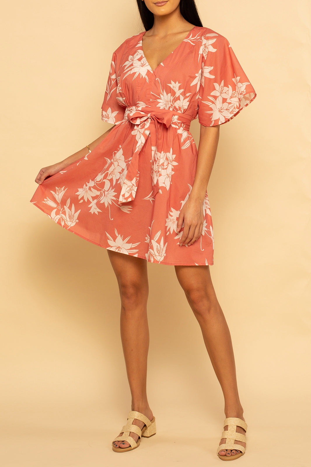 Paradise Dress - Spring Hibiscus - Shore