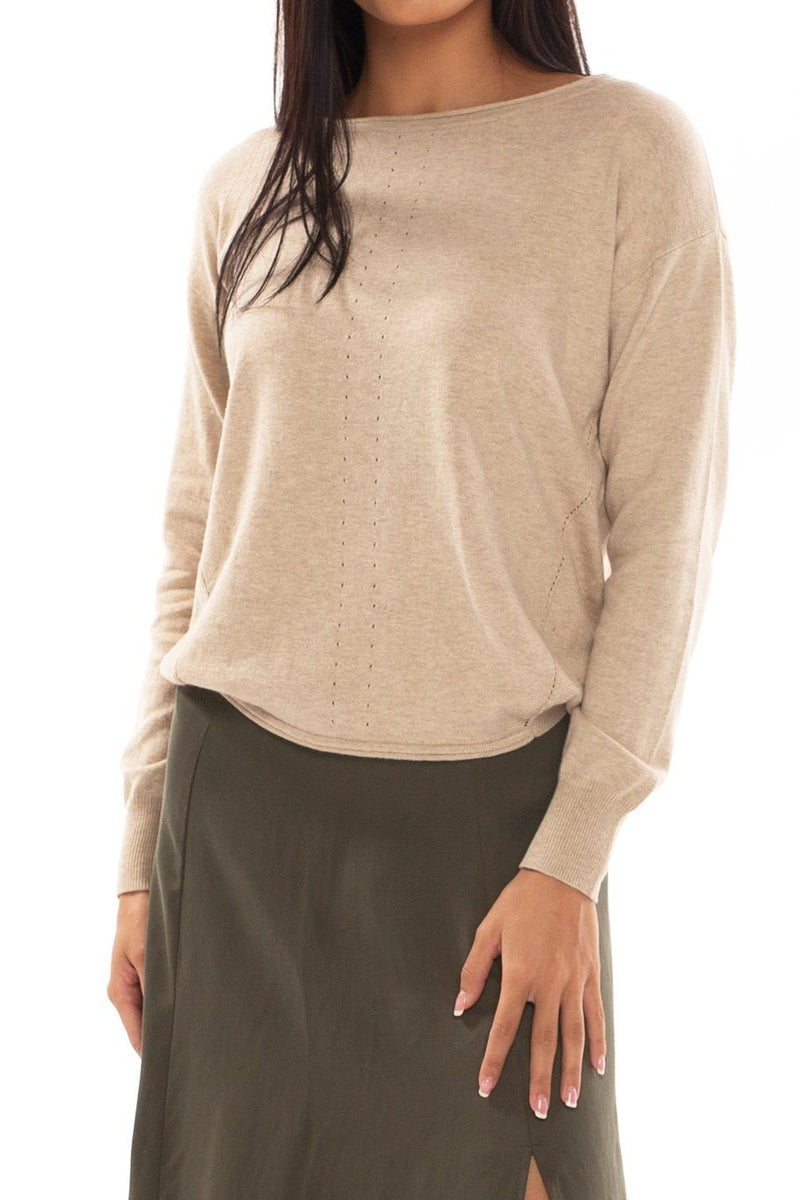 Vail U-neck Sweater - Natural - Shore