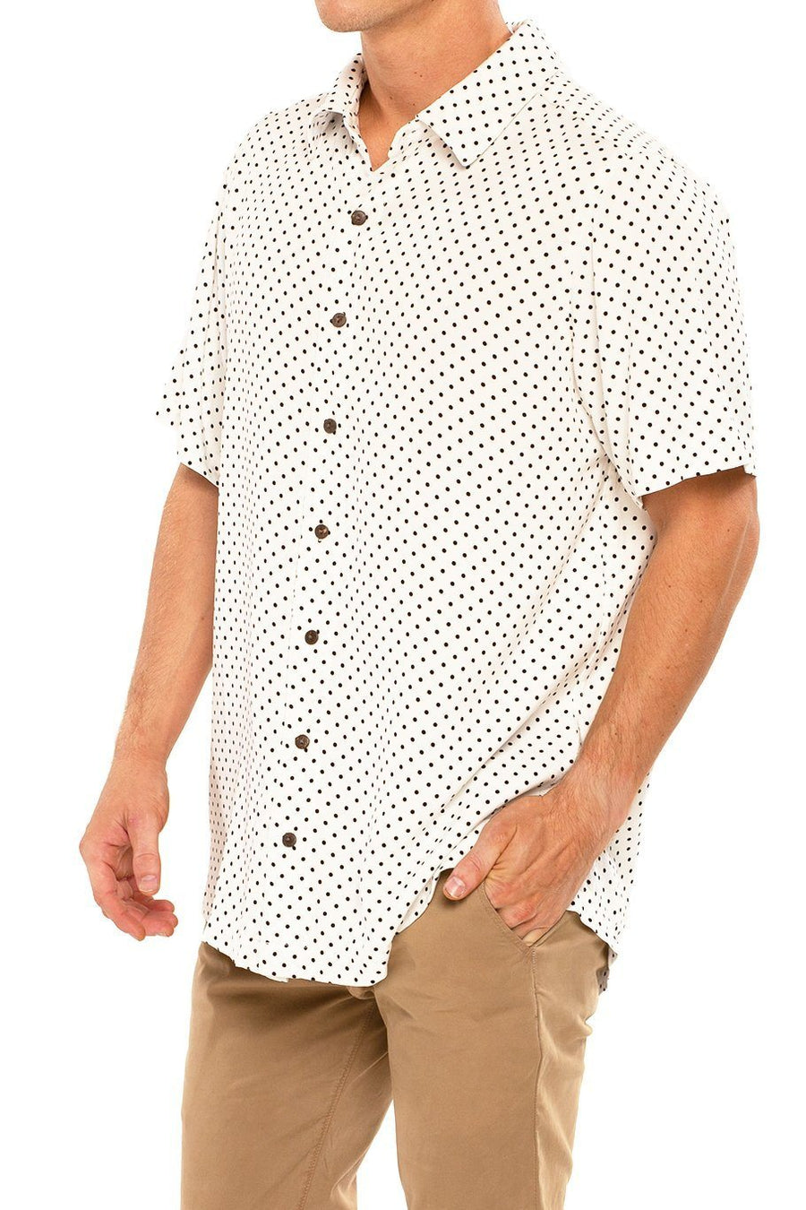 Shore Men's Camp Shirt - Polka Dot - Shore