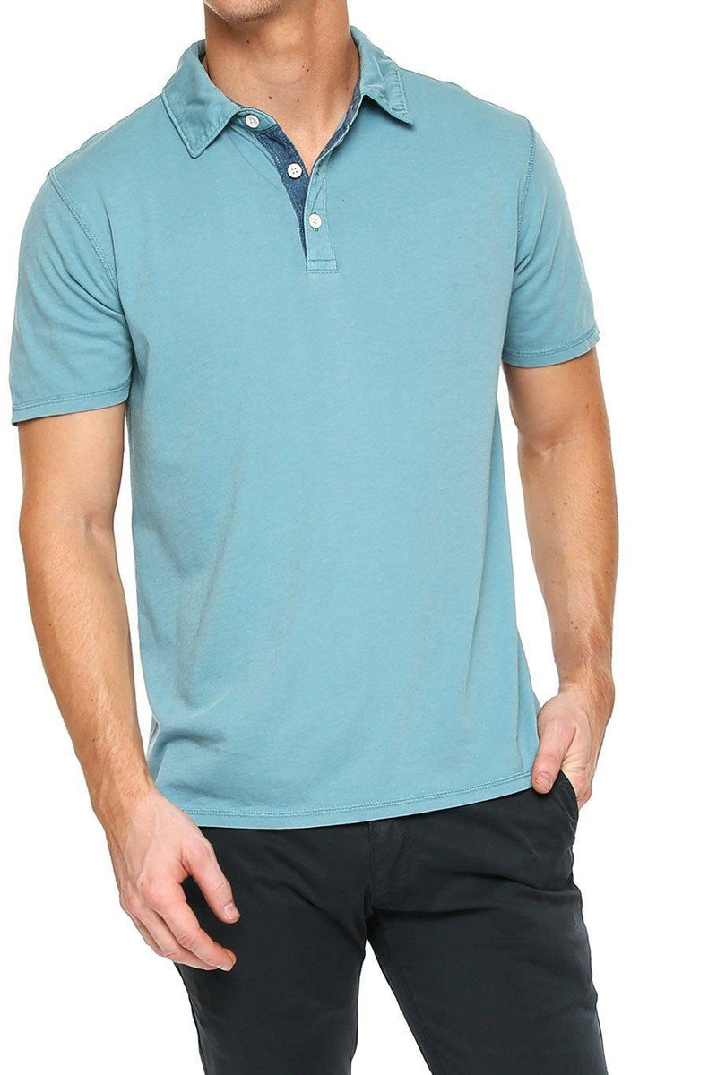 Short Sleeve Button Polo - Tourmaline - Shore