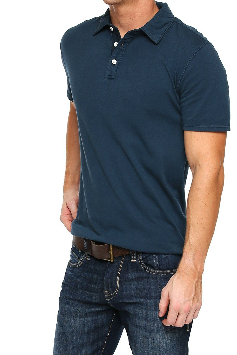 Short Sleeve Button Polo - Midnight - Shore