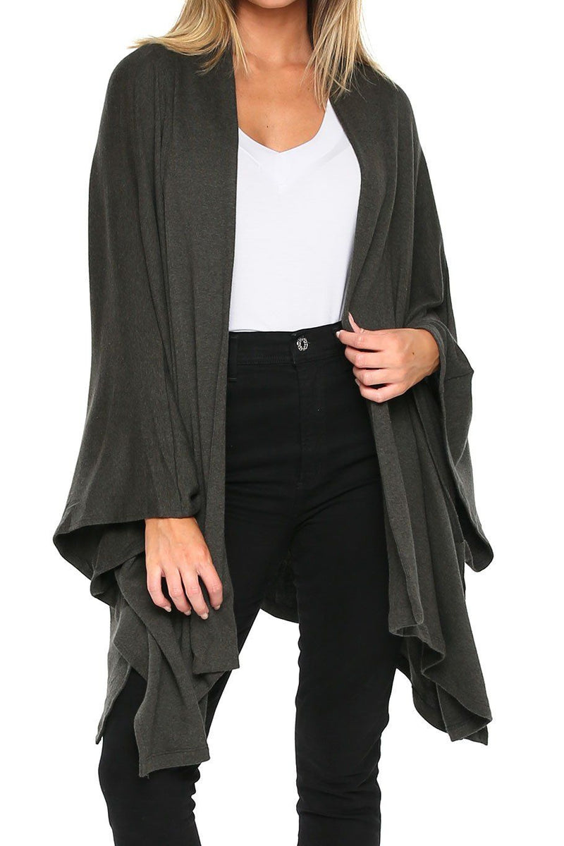 Poncho Sweater - Ivy - Shore