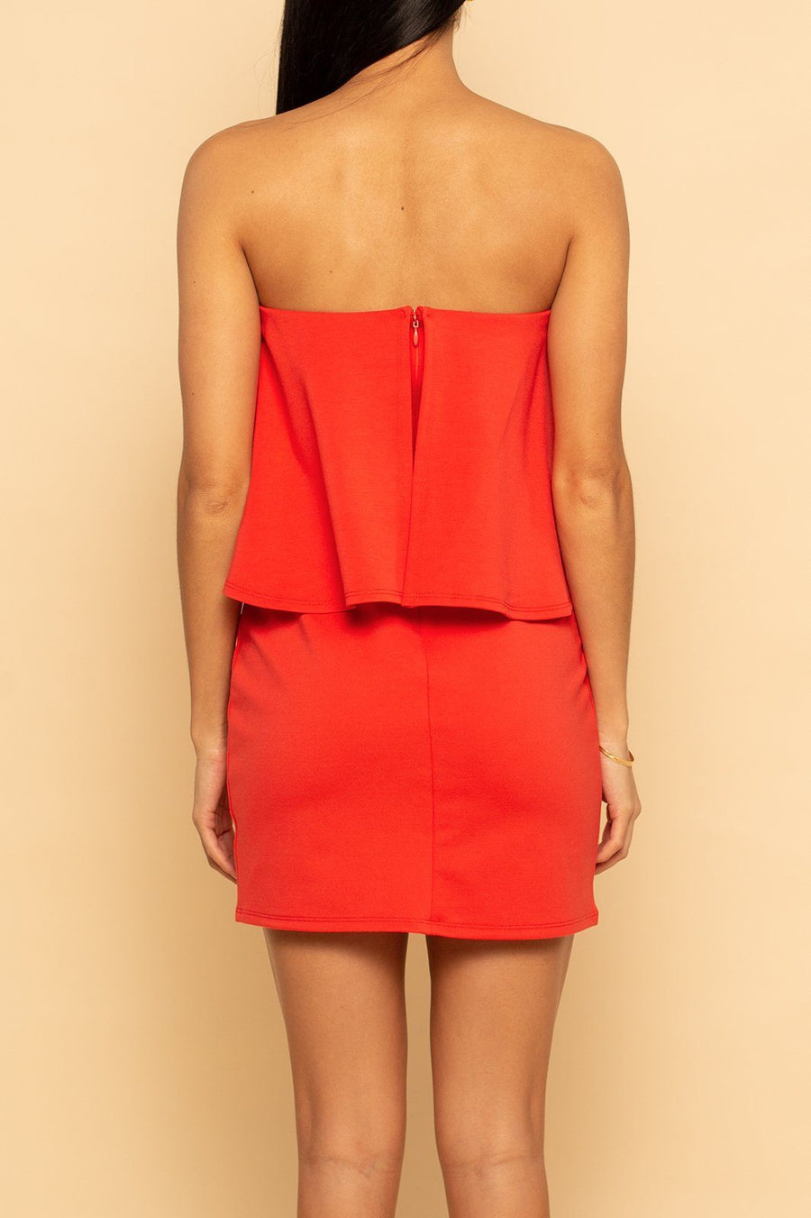 Ponte Mini Dress - Coral - Shore