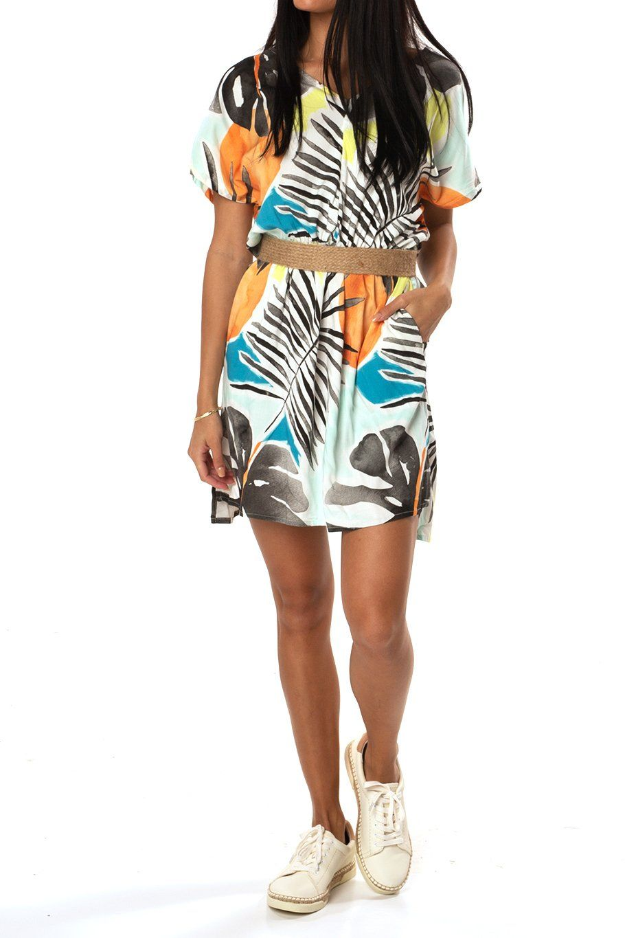 Poolside Dress - Blue Tropics - Shore