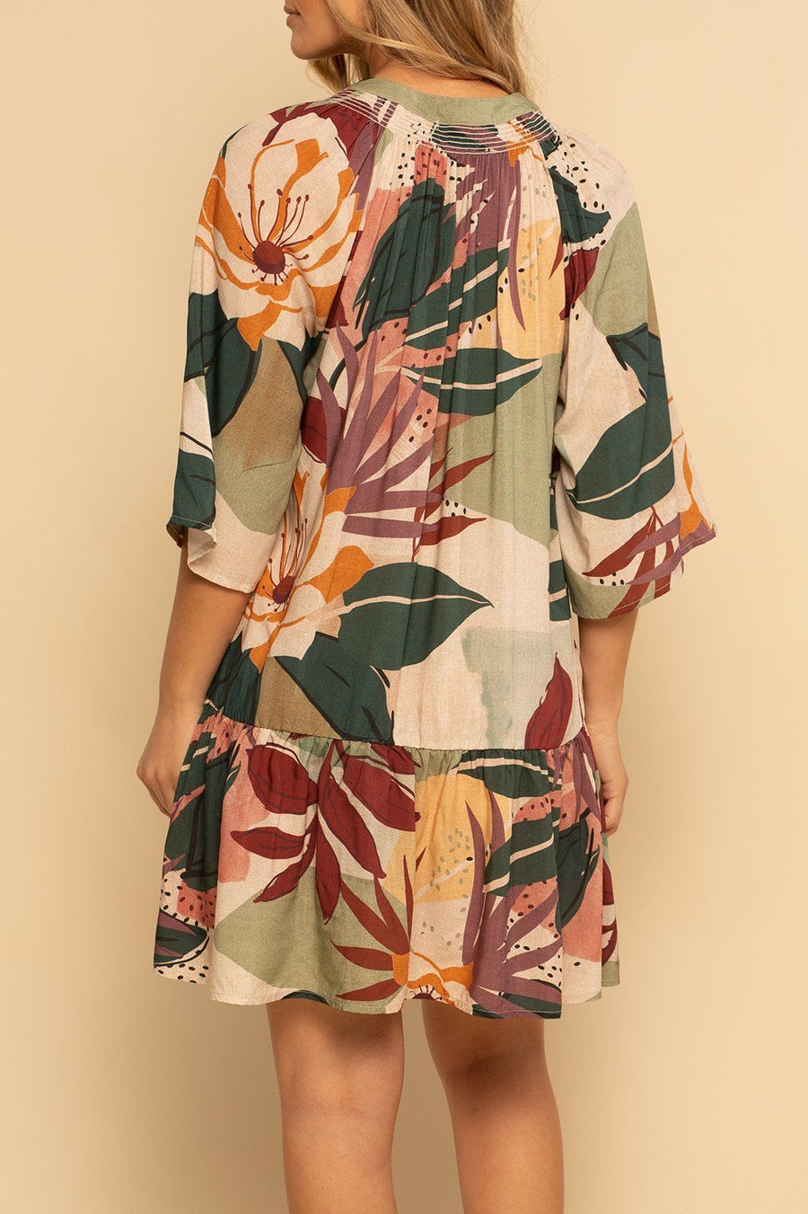 Sanibel Dress - Fall Floral - Shore