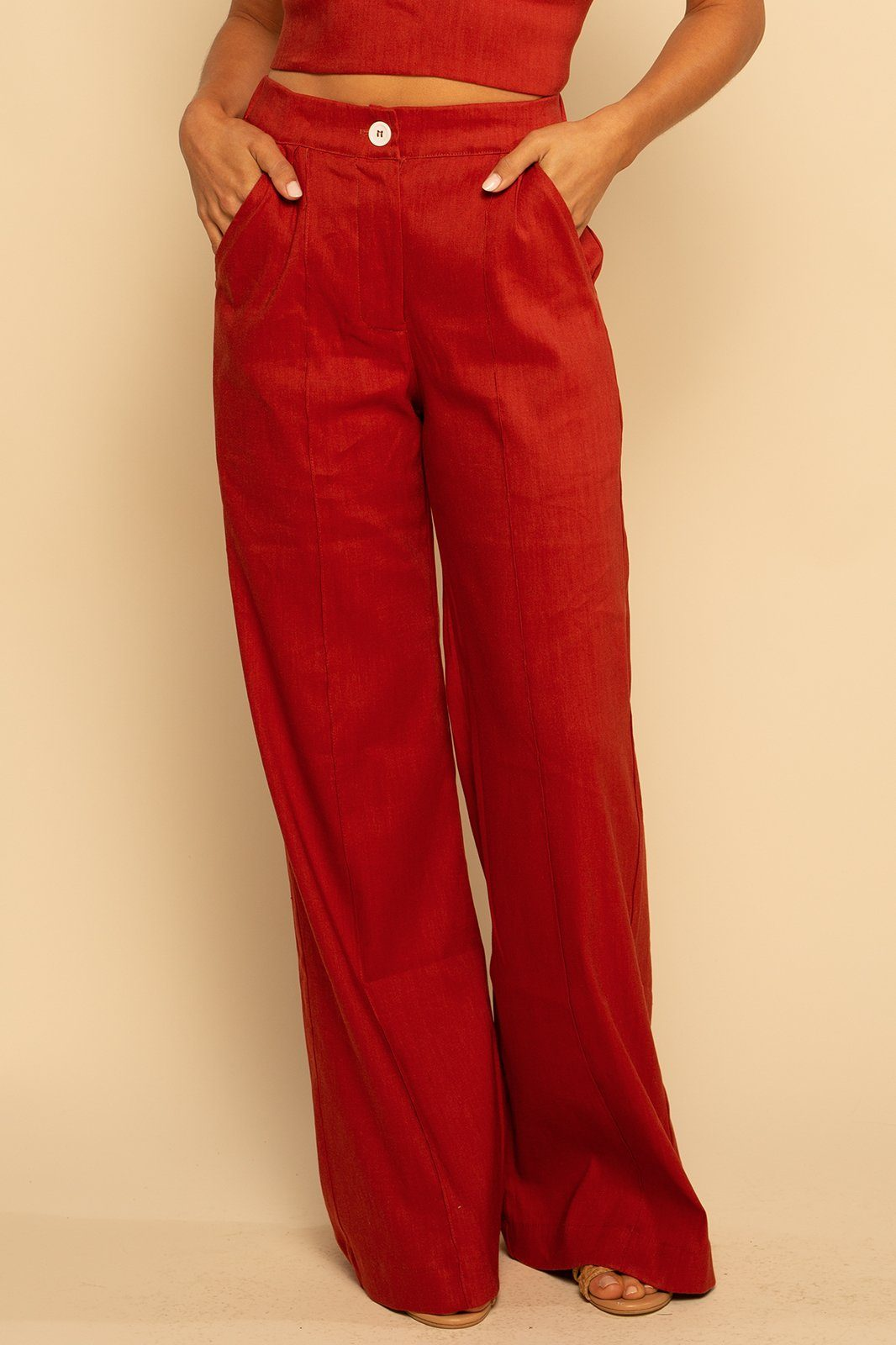 Linen Trouser - Rust - Shore