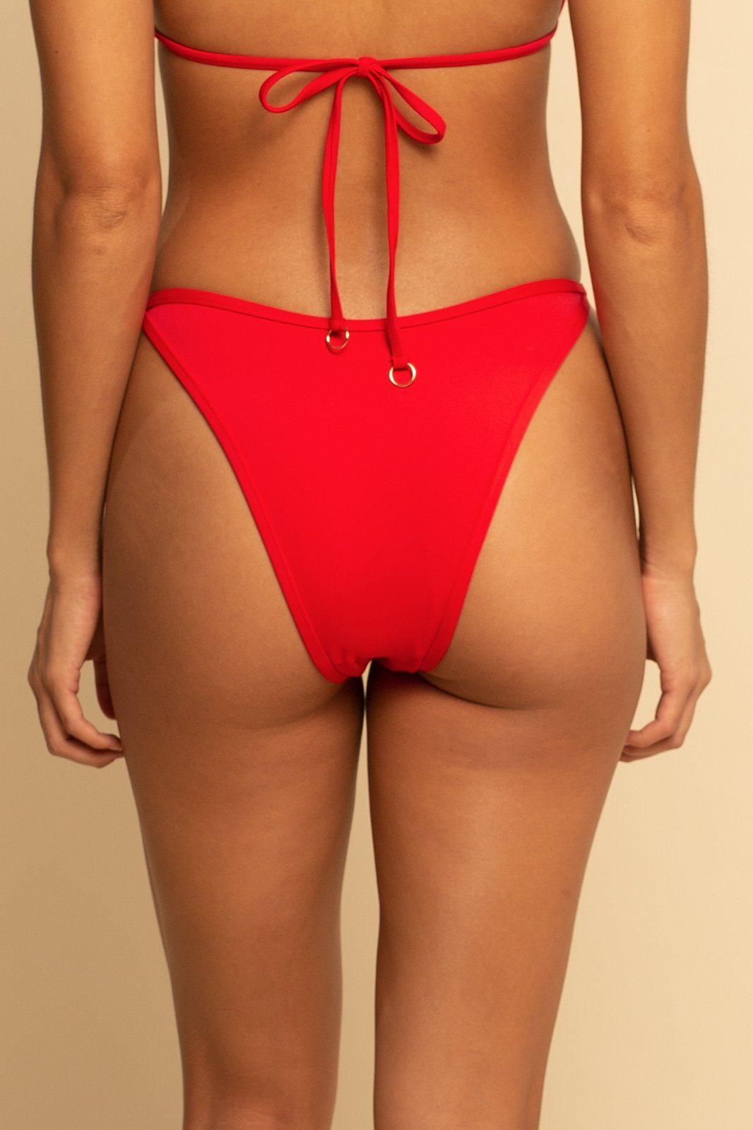 Bahamas High Hip Ring Bottom - Red - Shore