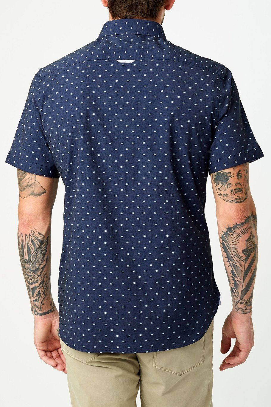 Rover Short Sleeve Shirt - Navy - Shore