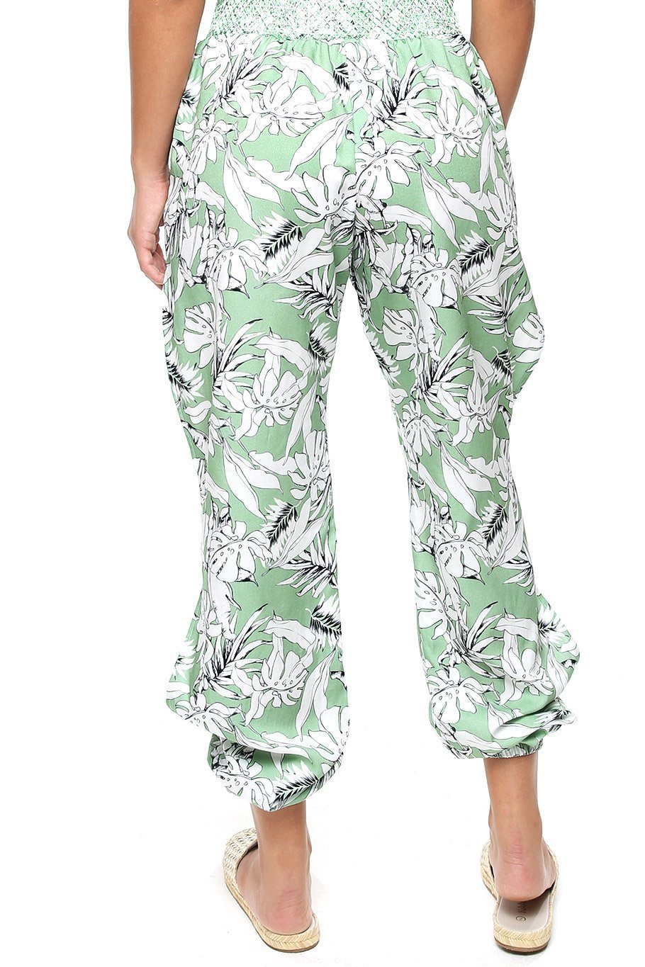 San Juan Split Leg Pant - Green Jungle - Shore